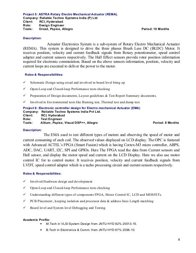 Hardware design Engineer cover letter
