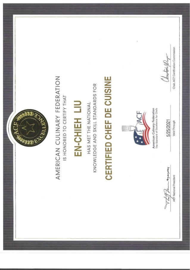 ACF CCC Certification