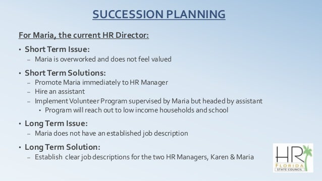 SHRM Case Competition - Succession planning template shrm