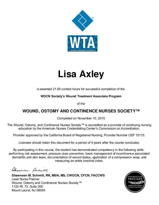 Wta Certificate