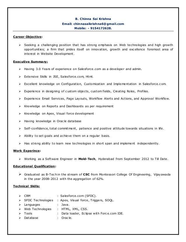 chinna sai krishna expereance salesforce resume