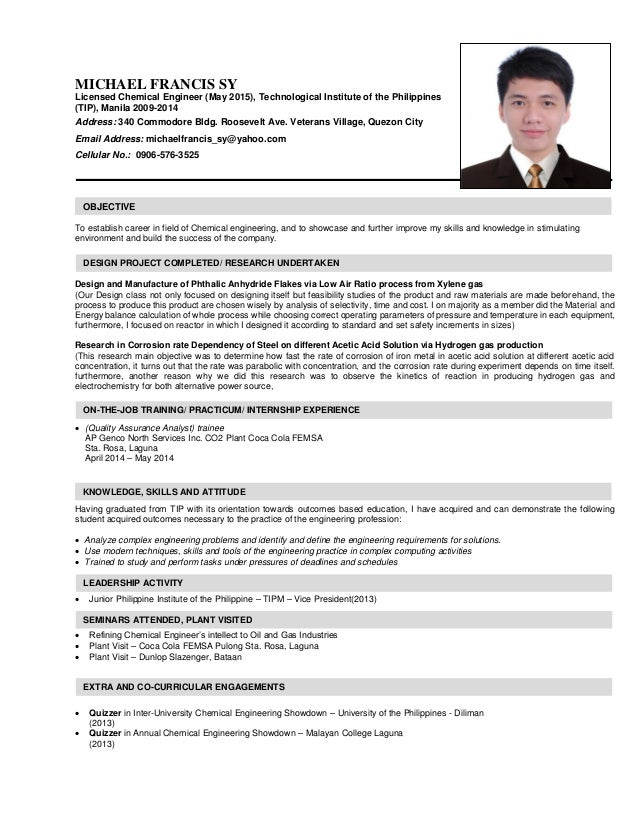Nice Image Of Resume For Ojt Composition - Examples Professional ...