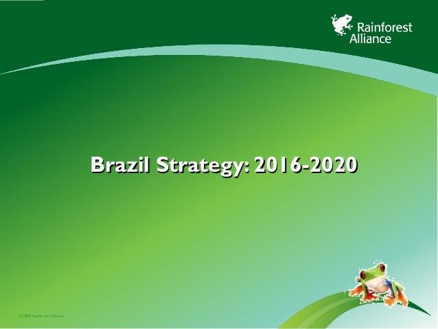 ©2009 Rainforest Alliance Brazil Strategy: 2016-2020Brazil Strategy: 2016-2020