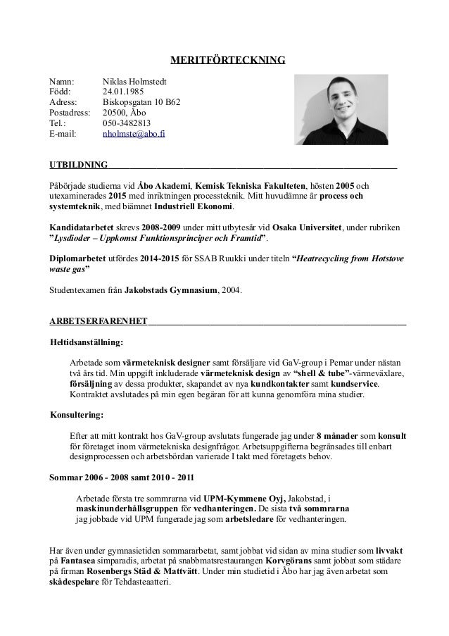 curriculum vitae uttal svenska