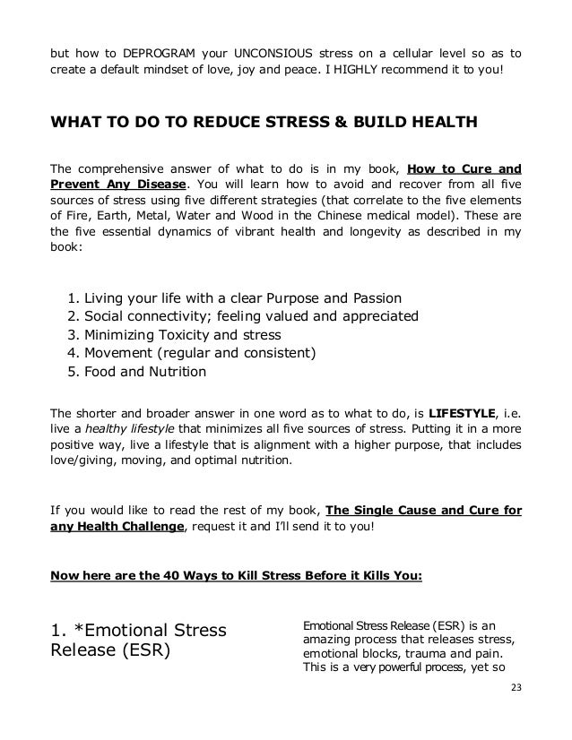 Forty Ways to Kill Stress Before it Kills You