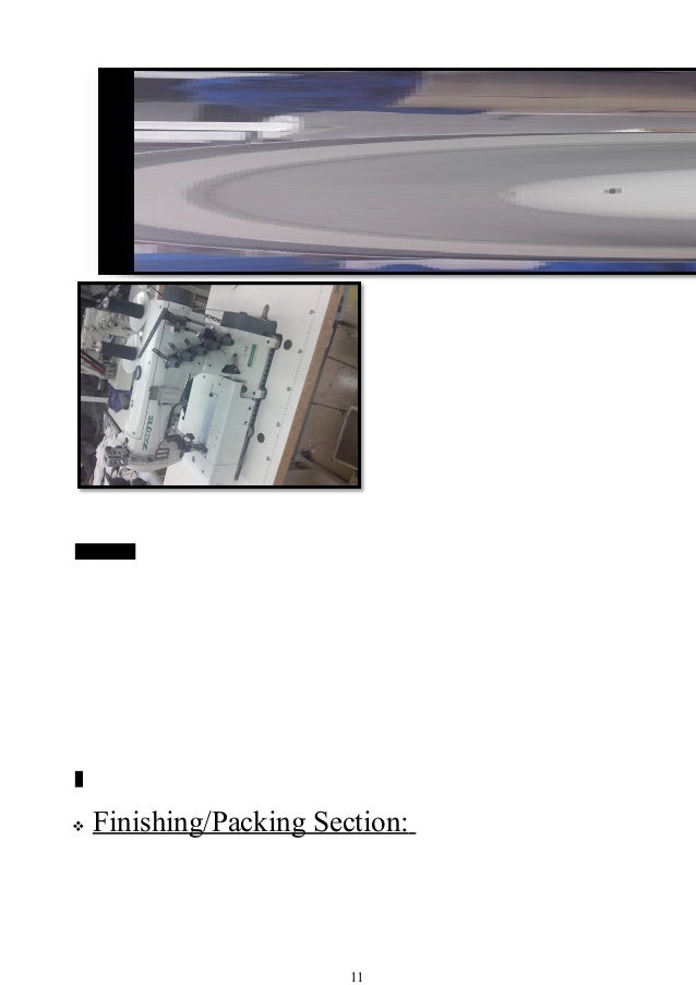 Sap button S  Finishing/Packing Section: 11