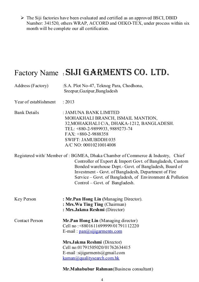  The Siji factories have been evaluated and certified as an approved BSCI, DBID Number: 341520, others WRAP, ACCORD and O...