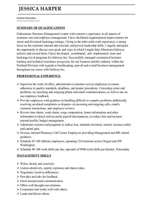 cover letter info