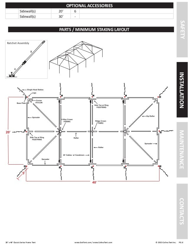 20 x 40 Frame Tent Installation Instructions
