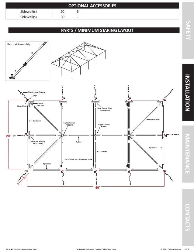 ... 6.  sc 1 st  SlideShare & 20 x 40 Frame Tent Installation Instructions