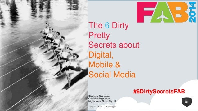 1 The 6 Dirty Pretty Secrets about Digital, Mobile & Social Media 01 Stephenie Rodriguez, Chief Enabling Officer Mighty Me...