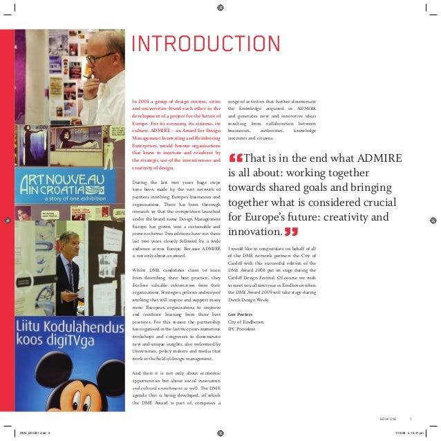 2008 Design Management Europe DME Award book of winners Slide 3