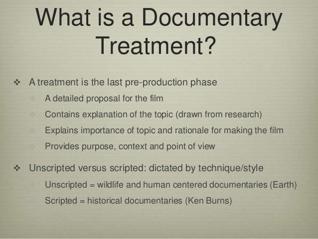 How to Write a Documentary Pitch