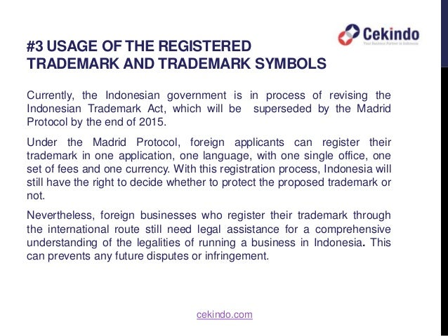 Doing Business In Indonesia Trademark Registration