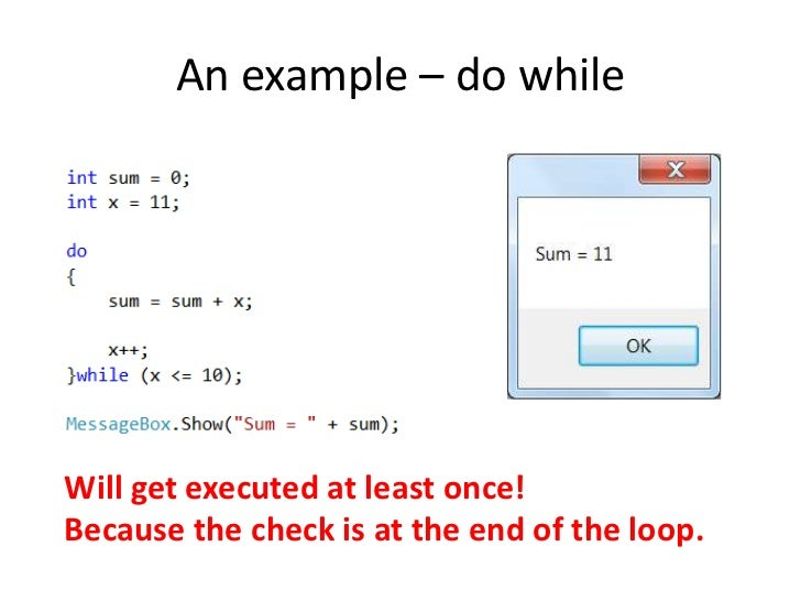 do while and while loop