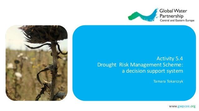 www.gwpcee.org Activity 5.4 Drought Risk Management Scheme: a decision support system Tamara Tokarczyk