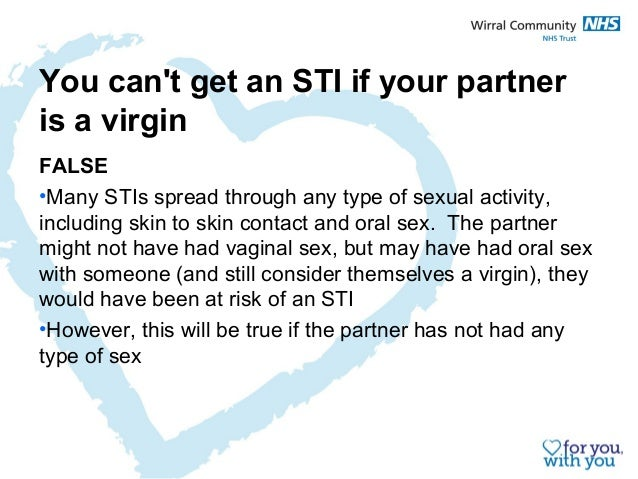 Sexually transmitted infections from oral