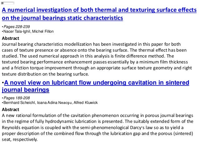 A numerical investigation of both thermal and texturing surface effects on the journal bearings static characteristics •Pa...