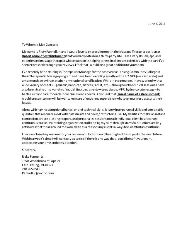 occupational therapy cover letters