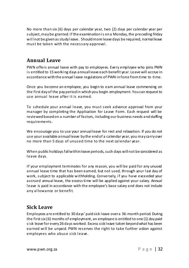 Sample Application Letter For Study Leave With Pay ...