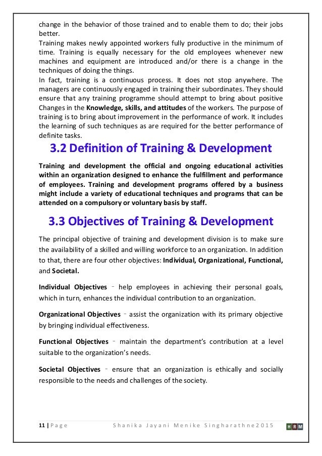 Effectiveness of Training and Development on Employees  Master thesis  training development