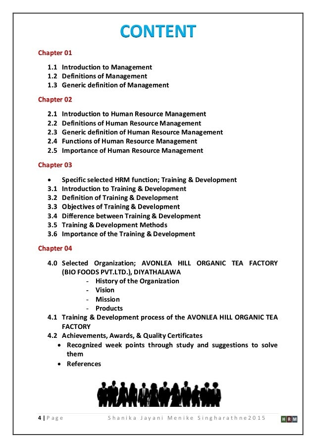 Dissertation thesis on management training