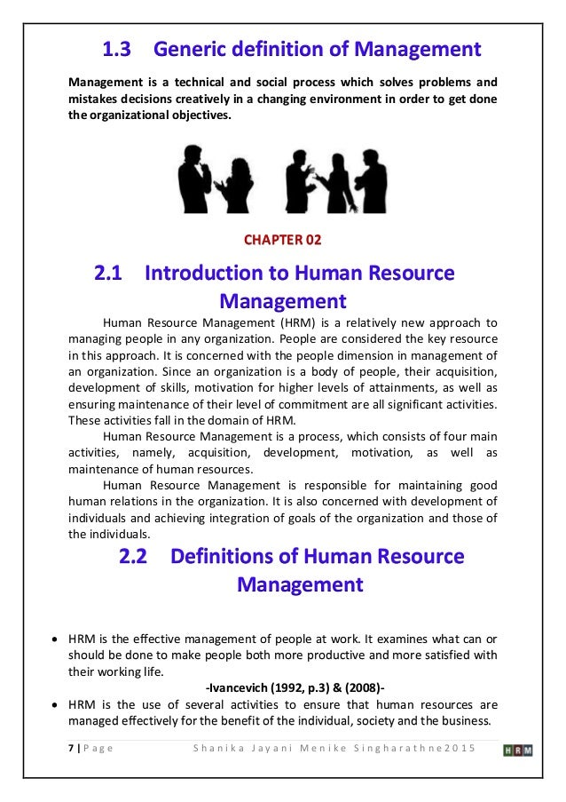 thesis human resource development