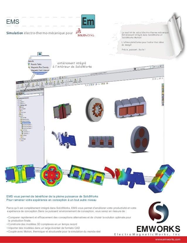 EMS Simulation électro-thermo-mécanique pour Le seul kit de calcul électro-thermo-mécanique Entièrement intégré dans Solid...