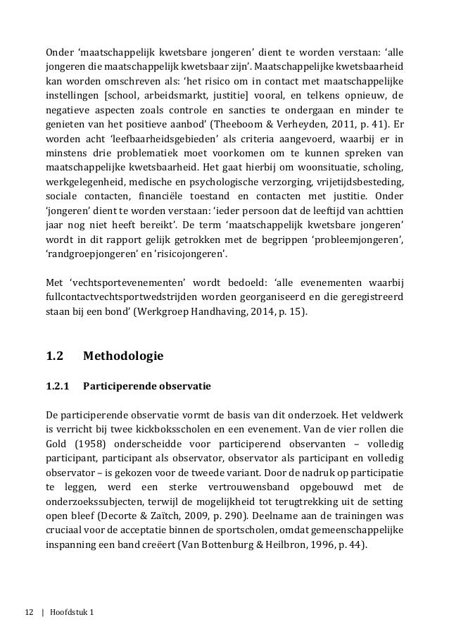 12 | Hoofdstuk 1 Onder 'maatschappelijk kwetsbare jongeren' dient te worden verstaan: 'alle jongeren die maatschappelijk k...