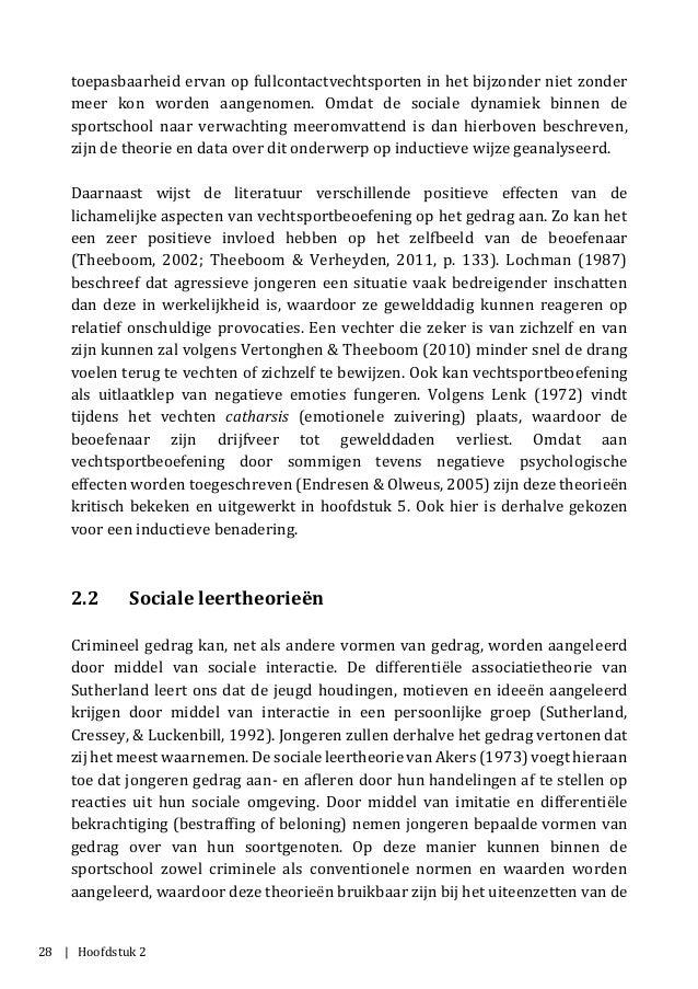 28 | Hoofdstuk 2 toepasbaarheid ervan op fullcontactvechtsporten in het bijzonder niet zonder meer kon worden aangenomen. ...