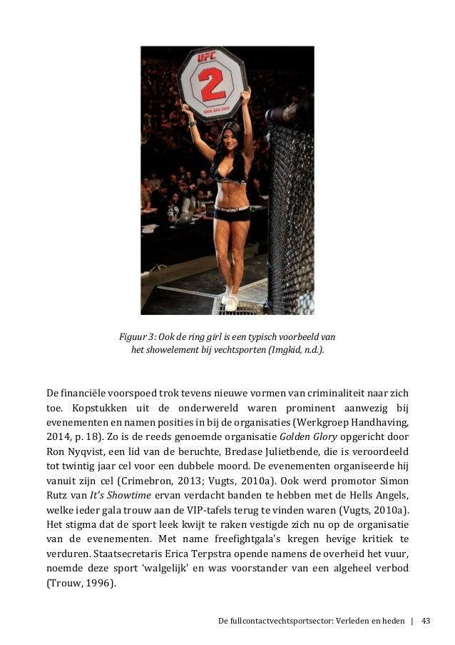 De fullcontactvechtsportsector: Verleden en heden | 43 Figuur 3: Ook de ring girl is een typisch voorbeeld van het showele...