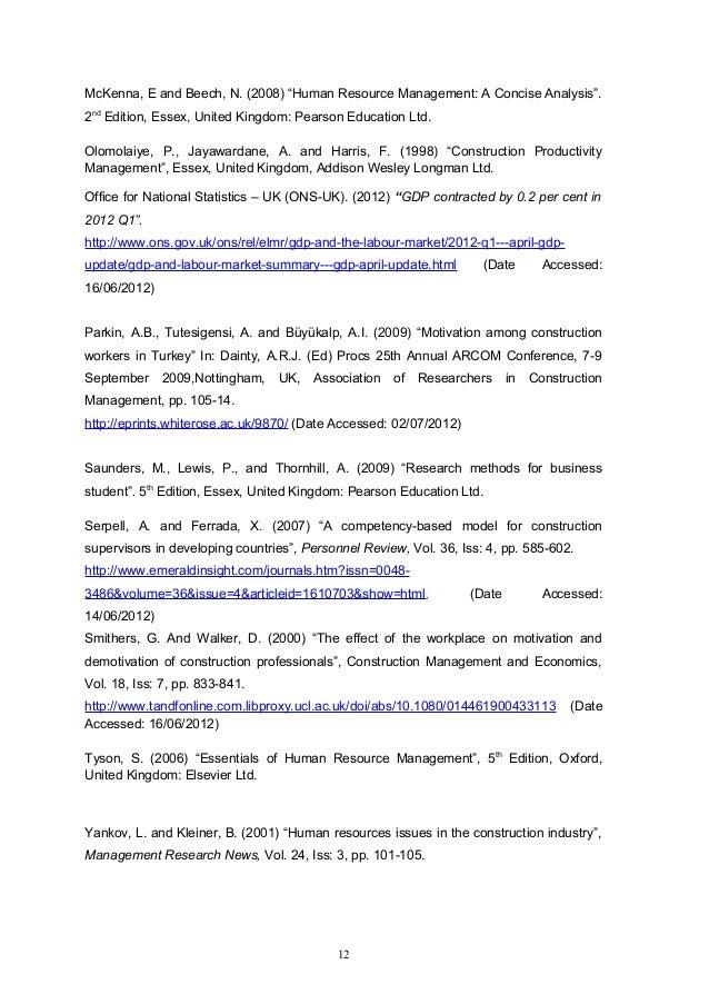 Research Proposal University Of Sunderland