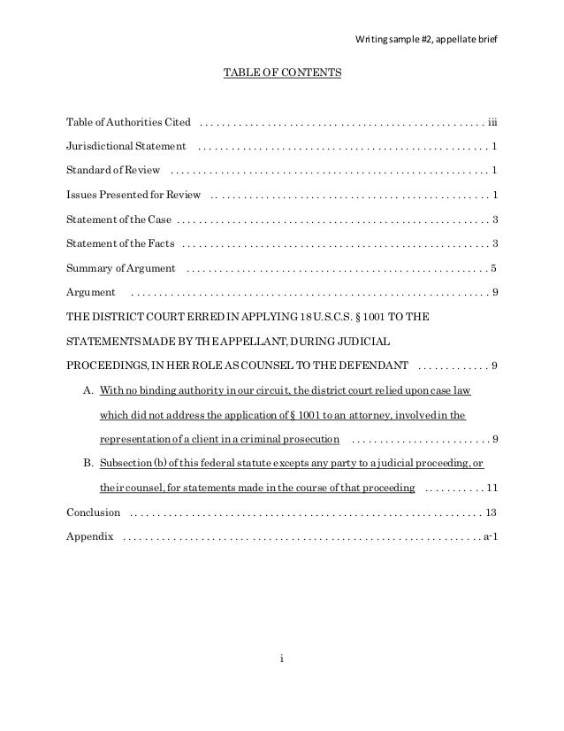 Appellate Brief Template. online word guide for formatting ...