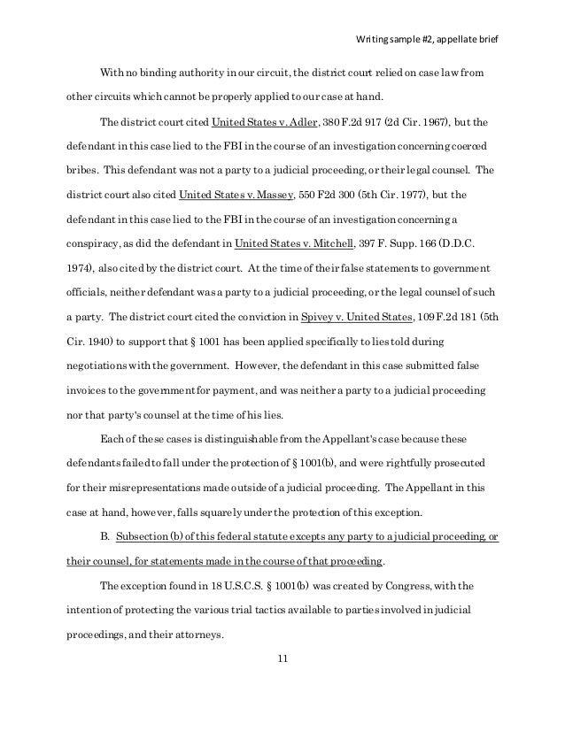 brief - final as writing sample