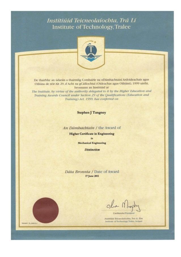 Higher Certificate