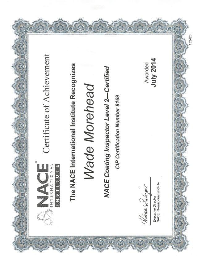 nace certificate slideshare achievement upcoming