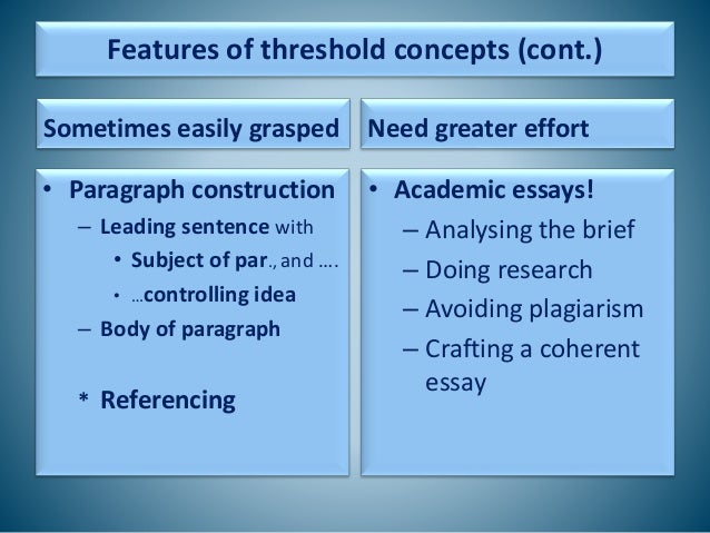 concepts for an essay Concept essays are written for the sole purpose of describing a concept to the reader, this requires a very sharp insight from the side of the students because they have to underline the hidden things in the subject matter of the concept essays.