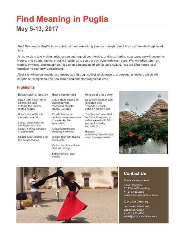 Find Meaning In Puglia May 2017 Trip