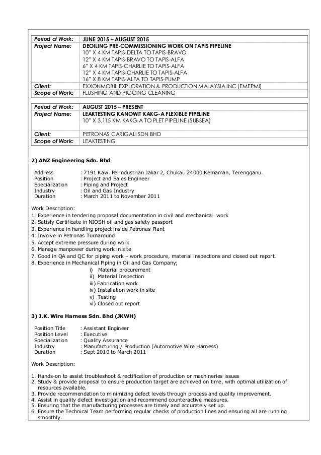 resume mohd yunus bin mohd nafi 3 638?cb=1444362395 resume mohd yunus bin mohd nafi wire harness job description at nearapp.co