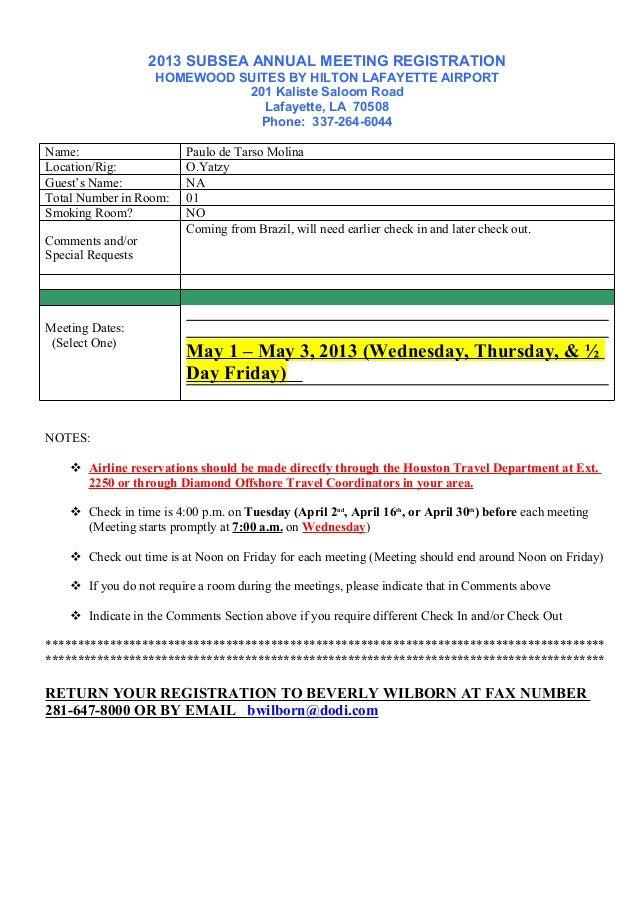 2013SUBSEAANNUALMEETINGREGISTRATION HOMEWOODSUITESBYHILTONLAFAYETTEAIRPORT 201KalisteSaloomRoad Lafayette,LA...