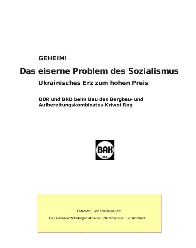 Schibri-Verlag Berlin • Milow • Strasburg GEHEIM! Das eiserne Problem des Sozialismus Ukrainisches Erz zum hohen Preis  D...