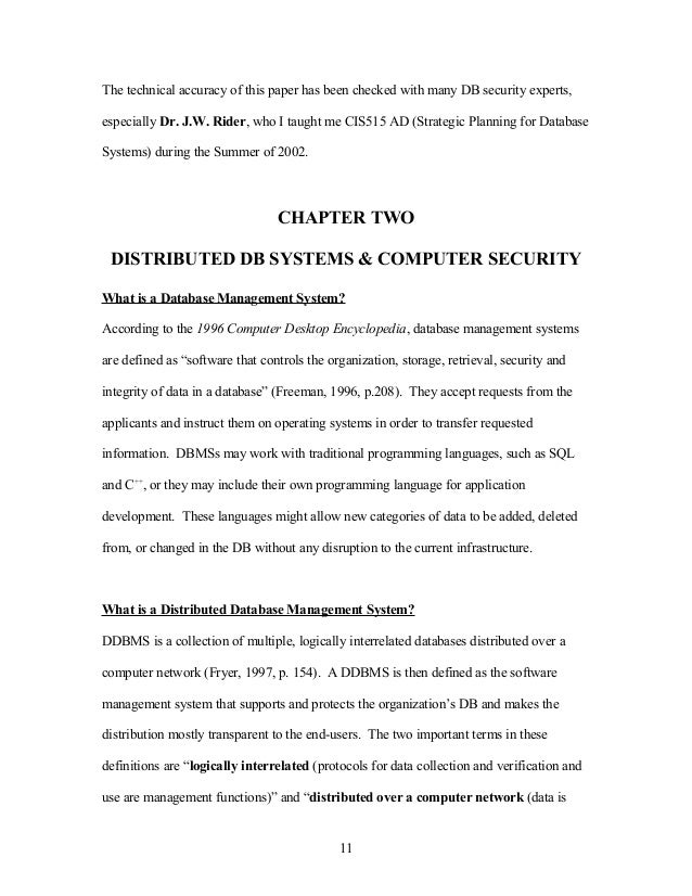 Master thesis computer security doctora dissertation of pelham am