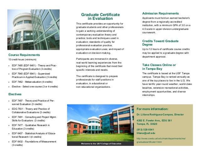 Graduate Certificate in Evaluation