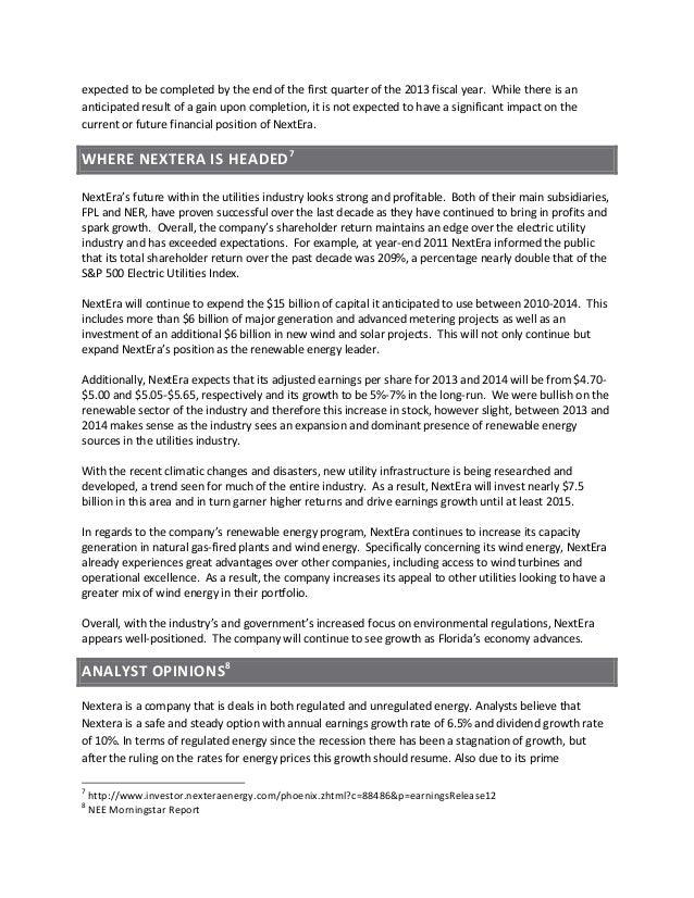 NextEra Analyst Report