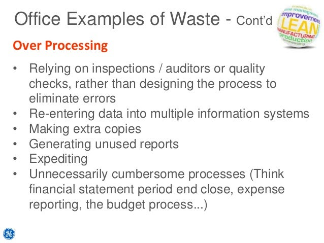 simple lean value and waste training