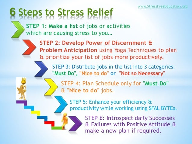 6 easy steps to stress relief by sfal foundation