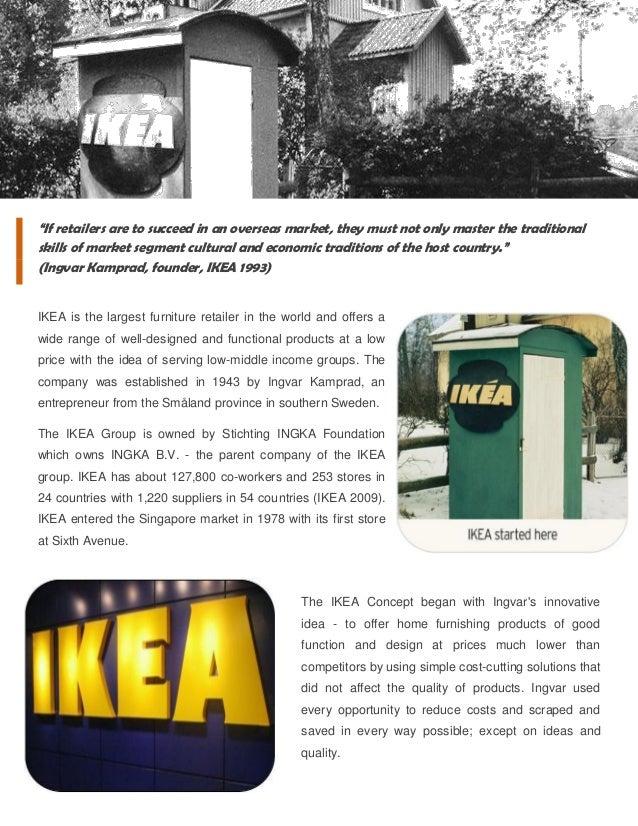 Ikea 2009 ikea - strategic retailing