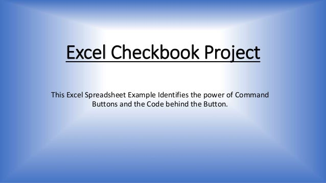 Excel Checkbook Project