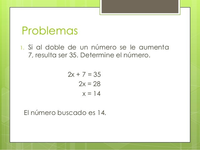 6 ecuaciones de primer grado problemas planteo for Ecuaciones de cuarto grado