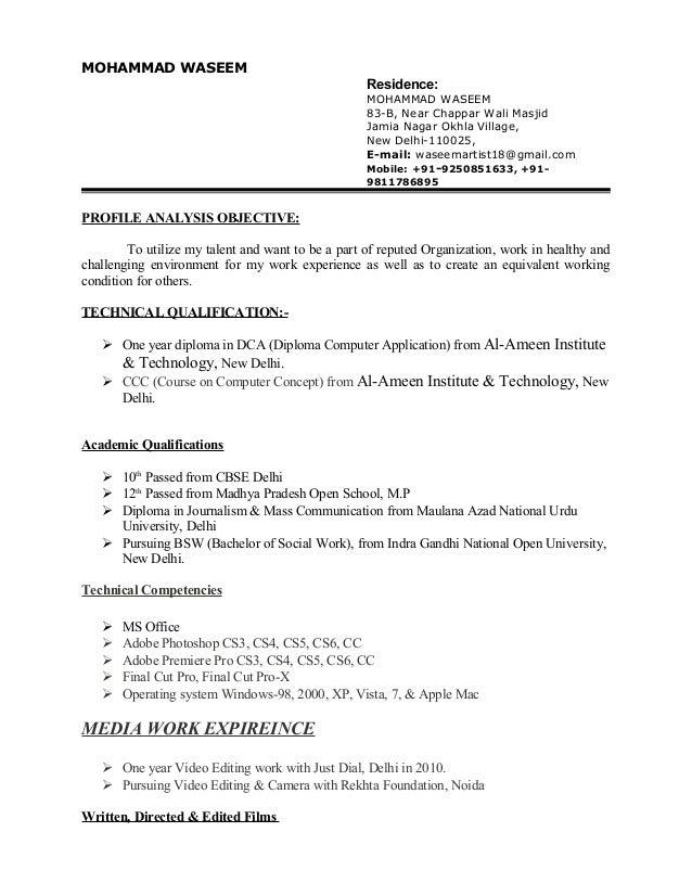 waseem resume